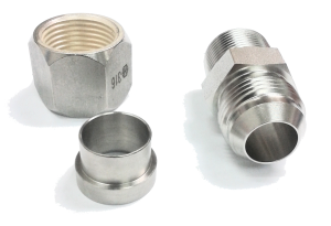 JIC Components: Fitting, Flare Nut & Sleeve